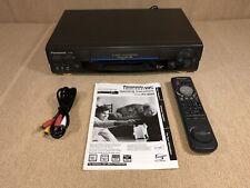 New listing Panasonic Vcr Vhs Player Pv-9660 4 Head w/Oem Remote/Manual/Cables - Euc