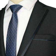 NEW 6CM skinny ties for men White Shirt  Silk ties Blue Floral Dot Wedding Party