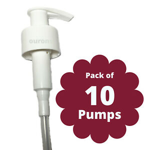 10 x White Lotion Pumps Pack of 10 28/410mm from Ourons
