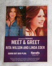 Rita Wilson & Linda Eder Meet & Greet Laminated Backstage Pass