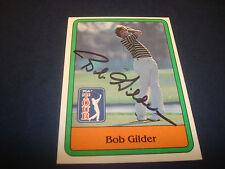 Bob Gilder PGA Golf Arizona State 1981 Donruss #19 Signed Authentic Autograph M7