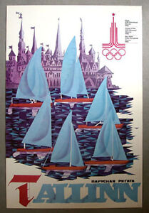 Original Moscow 1980 Summer Olympic Official Art Poster  #6