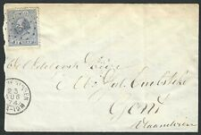 Nederland 1872 NVPH 19D op briefomslag met puntstempel 152 SCHEVENINGEN