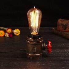 Elfeland Vintage Table Lamp - with UL Listed Button Switch Cord - Steampunk Desk