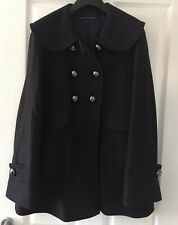 French Connection Ladies Women's Black Wool mix Coat Size 6