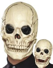 Adult Foam Latex Skull Mask Mens Halloween Skeleton Fancy Dress Horror New