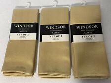 "Set 6 NEW WINDSOR Stain Resistant 20"" x 20"" DINNER TABLE NAPKINS - GOLD Color"