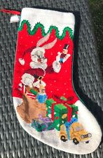 Bugs Bunny Midwest Cannon Falls Stocking Santa Looney Tunes Christmas 1996
