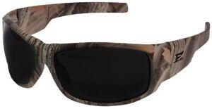 Edge Caraz Ballistic Safety Glasses Forest Camo Frame Polarized Smoke Lens