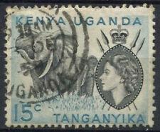 "K.U.T. 1954-9 SG#169, 15c QEII Definitive Used No Stop Below ""C"" #D22724"