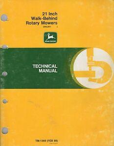 JOHN DEERE 21 INCH ROTARY MOWERS TM-1369 (FEB 88) TECHNICAL SERVICE MANUAL (162)