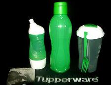 Tupperware GREEN 14oz Sports Bottle ~1 qt Eco Water Bottle ~Salad Blaster Shaker