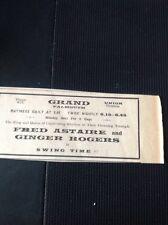 F7-1 Ephemera 1937 Advert Falmouth Grand Cinema Swing Time Fred Astaire