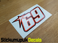 Nicky Hayden Sticker Superbike MotoGP Moto GP 69 Helmet Van Motorcycle 200mm