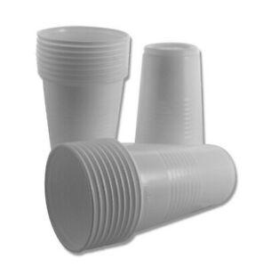 100 - 7500 Trinkbecher Ausschankbecher Plastikbecher weiß 0,2 Liter 200ml Becher