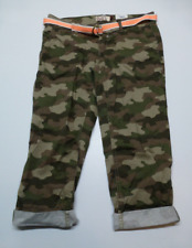 So Junior Womens Size 3 Belted Long Chino Camo Stretch Capri Pants New