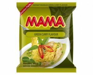 MAMA INSTANT NOODLES GREEN CURRY FLAVOUR  - 90G JUMBO PACKETS ORIENTAL STYLE