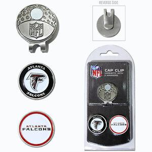 Atlanta Falcons NFL Team Golf Cap Clip with 2 Magnetic Enamel Ball Markers