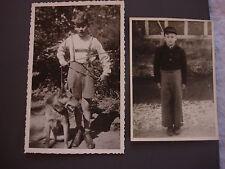 Vintage B&W Photo Album Full Germany Steiff Bear 1930s 1940s 1950s War Boy Lot