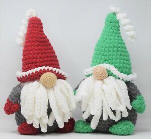 Knitty Critters Make Christmas Chrimbo/Sniffles Gnomes Red/Green Crochet Kit