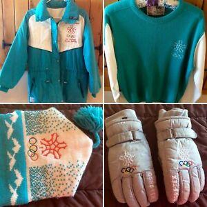 Vintage 1988 Calgary Olympic Games Volunteer Uniform Jacket Coat Gloves & Hat