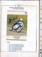 565187 / Motorrad Beleg Autogramm Hans Georg Anscheidt