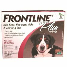 Frontline Plus For Dogs 89-132lbs 6 Pack