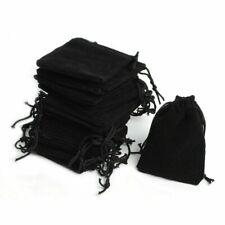 100 Black Velvet Bags Jewelry Drawstring Gifts Pouches Wedding Favors Bulk Cheap