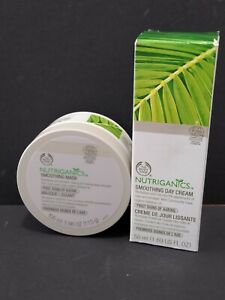 The Body Shop Nutriganics Smoothing Day Cream and Smoothing Mask Anti-Aging