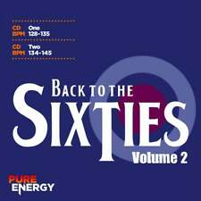 Back To The Sixties Vol 2 Double Aerobics Fitness Continuous Mix Disc Music CDs