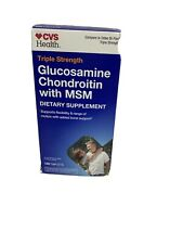Triple Strength Glucosamine Chondroitin MSM 120ct Compare Osteo BiFlex Exp7/2020