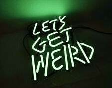 'Let'S Get Weird' Home Bar Pub Club Hand Craft Neon Sign Real Glass Tube Led