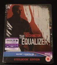 THE EQUALIZER Blu-Ray SteelBook UK Exclusive Ltd Ed Region Free. 1/4000 New Rare