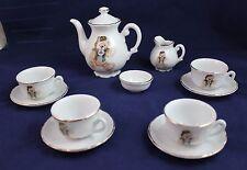Tea Set English Rose Bear Fine German Porcelain By Roehler Collection 12 pieces