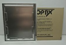 Industrial Picture Frame / Card Holder 8X10 Metal with Optics (Plexiglas) Shield