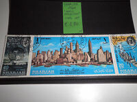 "FRANCOBOLLI STAMPS SHARJAH 1964 ""WORLD EXHIBITION"" USED SET (CAT.X)"