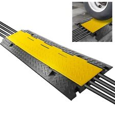 Pyle Cable Protector Ramp Safety Track w/ Flip Access Lid (Four Channel Style)