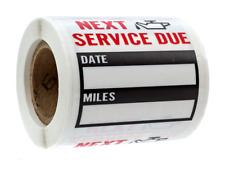 200 Oil Change Service Reminder Stickers Clear Window Lite Sticker Pack