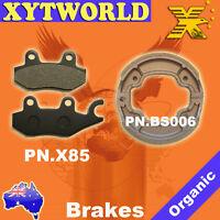 Front Rear Brake Pads Shoes Yamaha YBR125 YBR 125 06-08