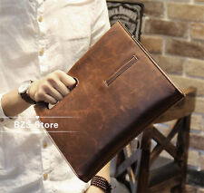 Brown Business Men's Vintage PU Leather Briefcase Handbag Messenger Shoulder Bag