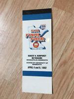 1992 NCAA FINAL FOUR TICKET BOOKLET - MINNEAPOLIS MN HHH METRODOME