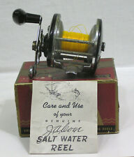Vtg Fishing Reel J. A. Coxe Model 630 Salt Water w Orig Box and Papers Bronson