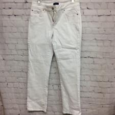 Nydj Lift Tuck Technology Womens Skinny Pants White Pockets Stretch Petites 6P