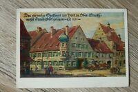 Schwaben 2) Bayern AK Fürstenfeldbruck 1950-60er Gasthaus zur Post 1700 M. Luber