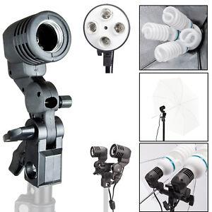 E27 Spiral Light Bulb Holder Socket Mount Plug Bracket Photography Studio Parts