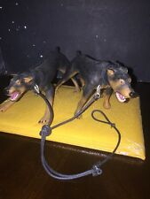 21st century toys 1/6 Twin Dobermans Dogs With Leash For Action Figures.