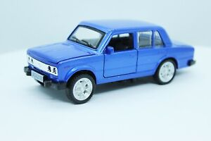 LADA 2106 (blue) 1/32 scale diecast metal car Length - 4.7 inches