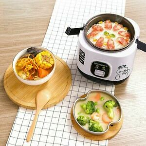 Electric Rice Cooker 1.2L Portable Mini Small Rice Cook 3 Cups For 1-2 Person