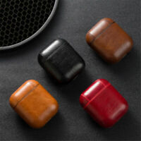 Protective PU Leather Apple Airpod Case Cover - Anti Lost Skin Case for Airpods