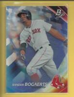 Xander Bogaerts 2017 Bowman Platinum Card # 97 Boston Red Sox Baseball MLB